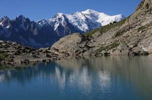 Mont Blanc et lac Blanc
